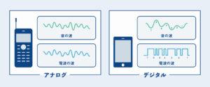アナログ電波とデジタル電波の違い